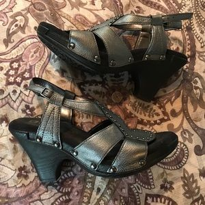 Very cool pewter sandals